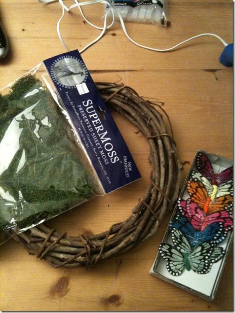 butterfly wreath supplies