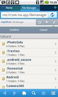 Screenshot of Maxthon Add-on: File Manager