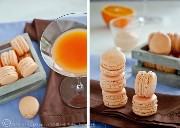 Campari Orange Grapefruit Macarons Diptych by MeetaK