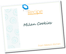 Meeta Recipe Card Milan Cookies