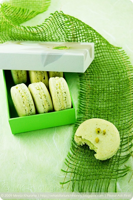 Pistachio Lemon Cream Macarons (04) by MeetaK