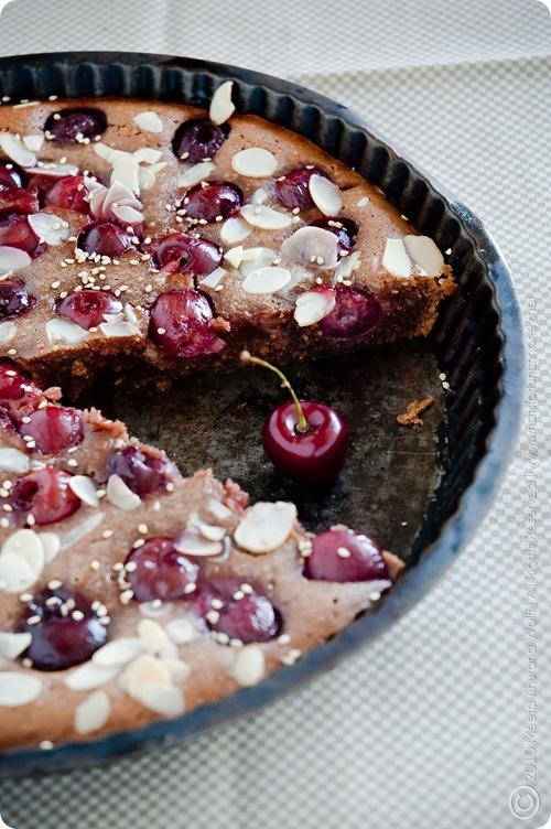 Dark Chocolate Cherry and Tahini Clafoutis (0025) by MeetaK