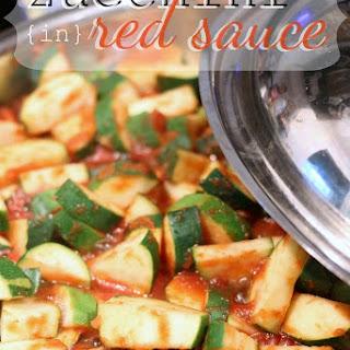 Zucchini in Red Sauce.