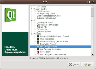 Qt / MeeGo Mobile Apps Development: Hello World Qt GUI
