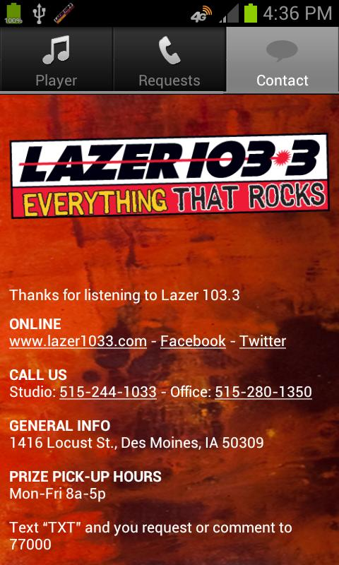 Lazer 103.3 - screenshot