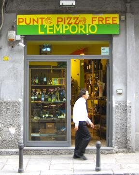 Addiopizzo - Der schutzgeld-freie Laden L'emporio pizzo free in Palermo