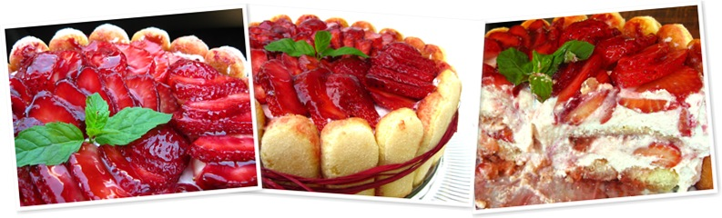 View strawberry tiramisu