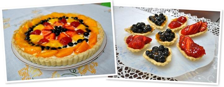 View fruit tarts
