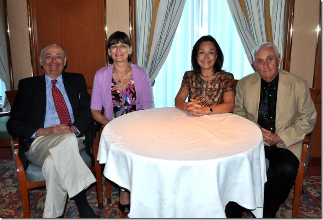 Rich, Linda, Lilli, Bob at dinner