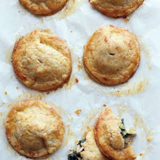 Chicken and Kale Hand Pies with Cheddar Crust.
