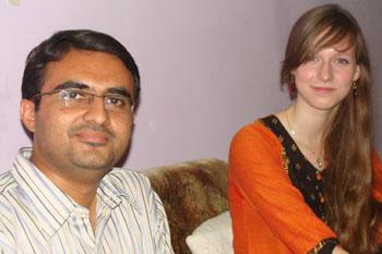 Devang Vibhakar with Stine Harder
