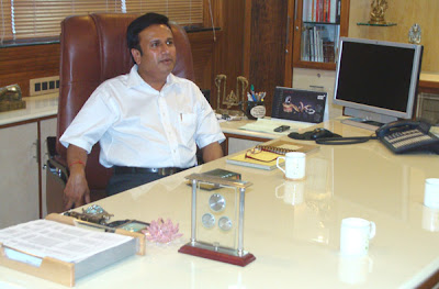 Mr. Siddharth Shah in his office