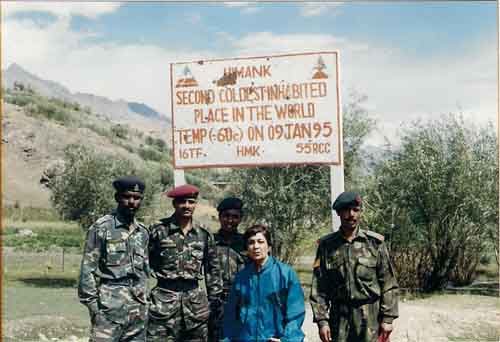 Dr.Bhagwati Oza with Indian Army soldiers