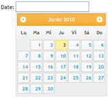 Datepicker en acción