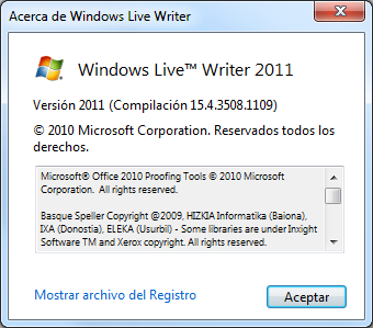 Windows Live Writer actualizado