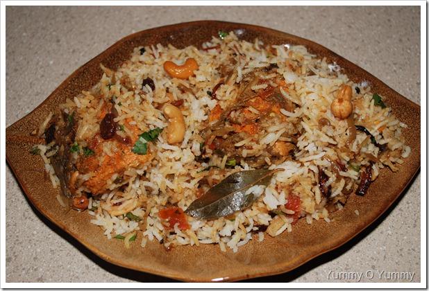 Kerala Style Fish Biriyani