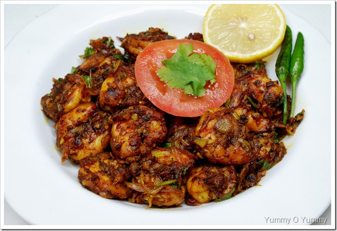 Spicy Prawn Roast