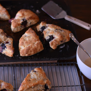 Wild Blackberry Scones with Lemon Glaze