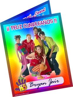 Tarjeta De Cumpleaños De Hi5 Invitaciones Fiesta Infantil