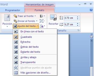 Ajustes del Texto - Microsoft Word