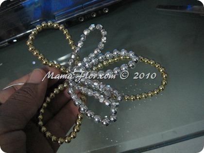 Angelito de Perlas para el Arbol Navideño 0241