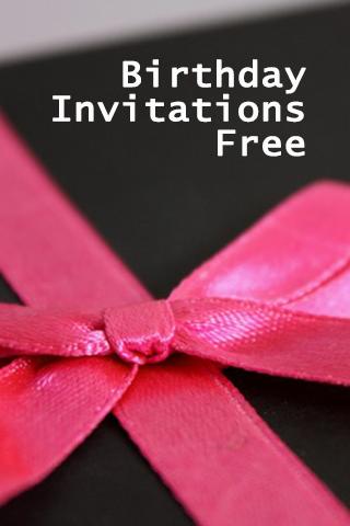 Birthday Invitations Free