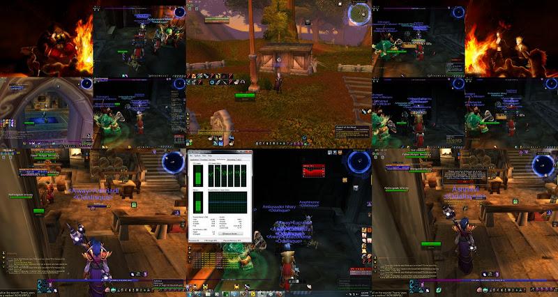 WoW] 10 wow accounts on one machine, 6 monitors (eyefinity 6)