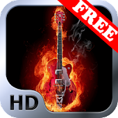 Fire and Guitar Live Wallpaper