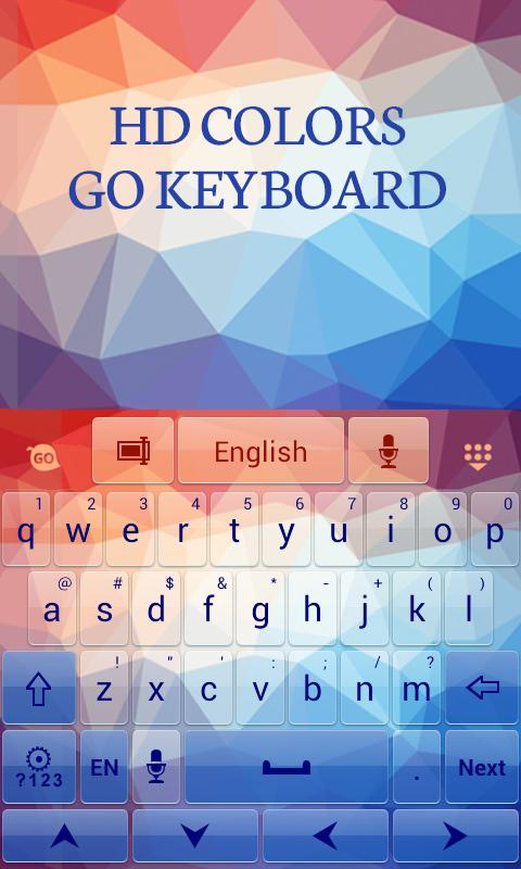 HD Colors GO Keyboard Theme - screenshot
