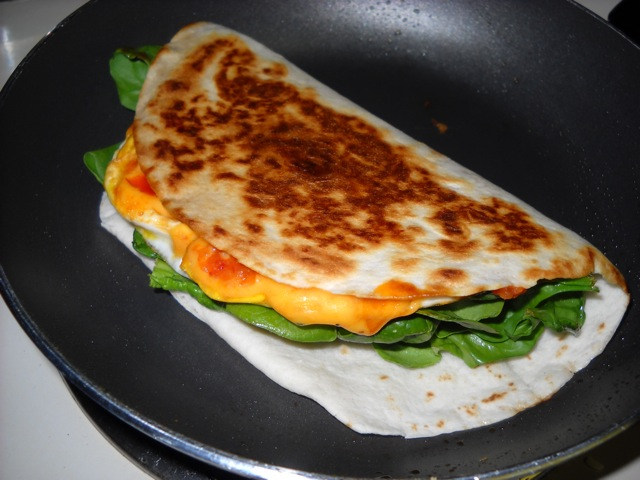 cook quesadilla