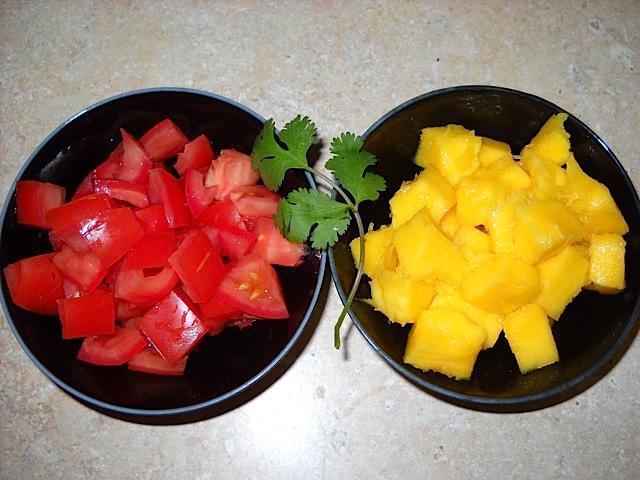 tomato and mango