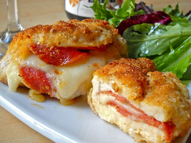 Pepperoni Stuffed Chicken