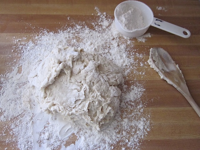 knead and add flour