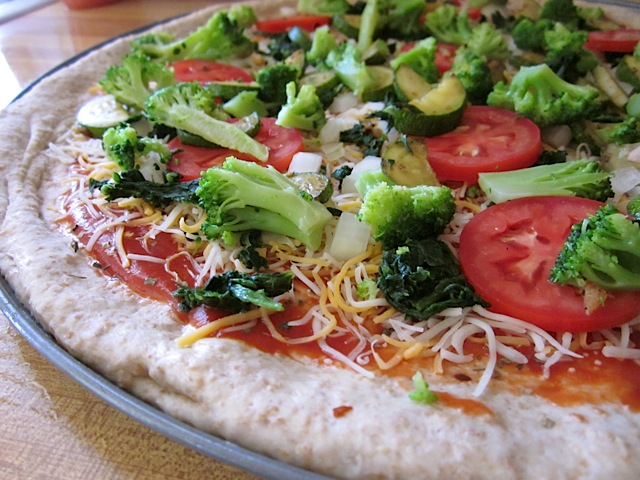 honey wheat pizza dough with toppings