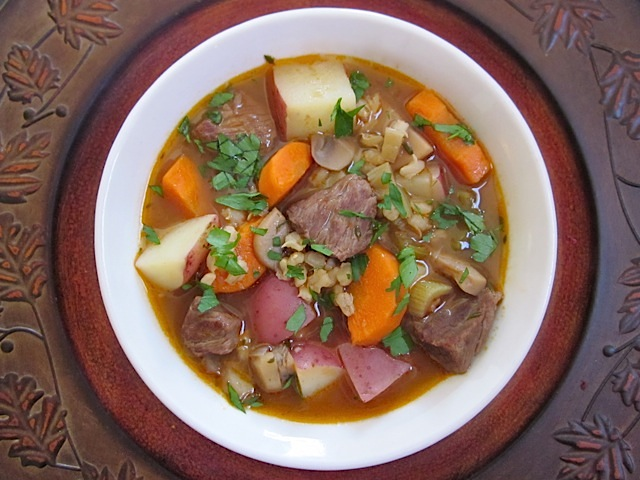 Beef and Barley Soup - BudgetBytes.com