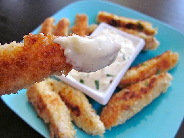 dip tilapia fish stick