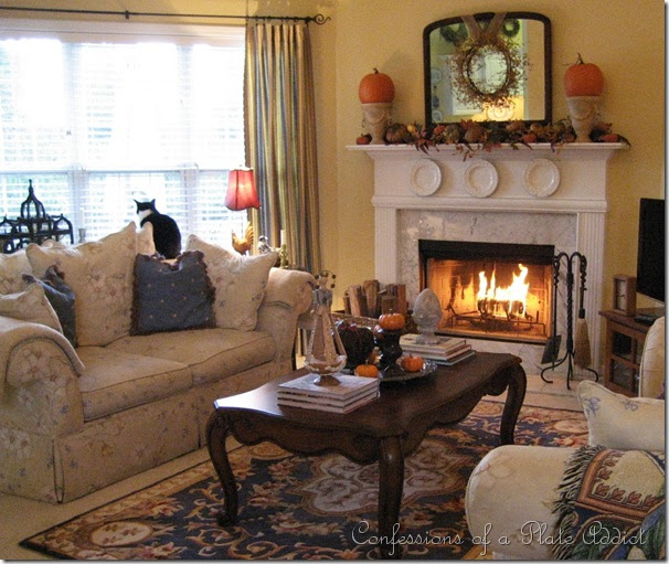 Living Room Ideas To Fall In Love With: CONFESSIONS OF A PLATE ADDICT: Getting Cozy...My Fall