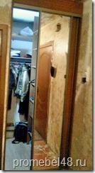 Вариант планировки маленькой гардеробной