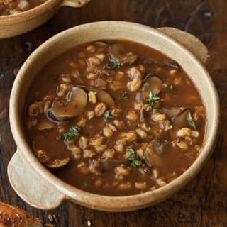 Savory Barley Soup with Wild Mushrooms and Thyme
