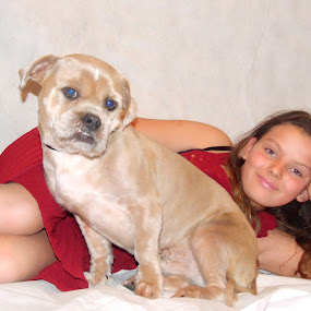 One girl and her dog by Mick Greaves - Animals - Dogs Portraits ( love, girl, smile, dog, portrait,  )