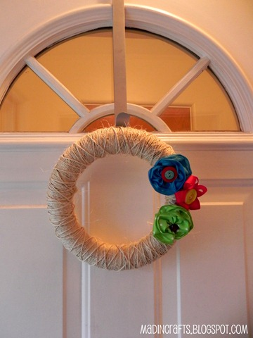 twine and yoyo summer wreath