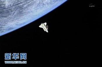 美国发现号航天飞机永别国际空间站