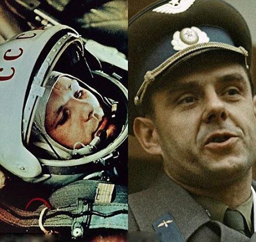 苏联太空英雄尤里·加加林(左)和不幸的宇航员弗拉迪米尔·科马洛夫被指派执行1967年那项注定会失败的飞行任务。.jpg