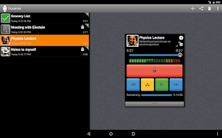 Screenshot of Dictadroid Voice Recorder