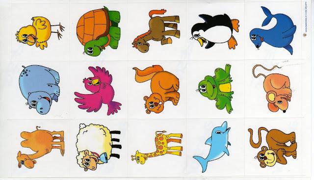 Dibujos De Animales A Color Para Imprimir: CROMOS DE ANIMALES PARA IMPRIMIR