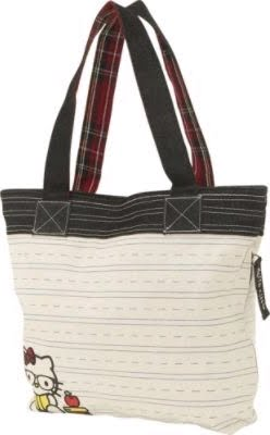 e1554ba3739c Loungefly Hello Kitty Nerd Tote. 0. Double black denim and red plaid  handles with 10