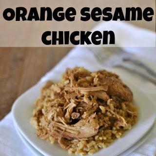 Slow Cooker Orange Sesame Chicken.