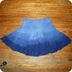 twirl skirt recon - after dye