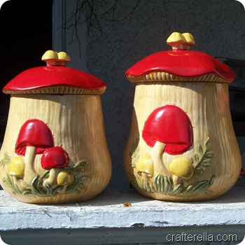 mushroom canisters red paint 1