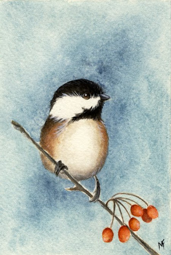 watercolour Christmas painting